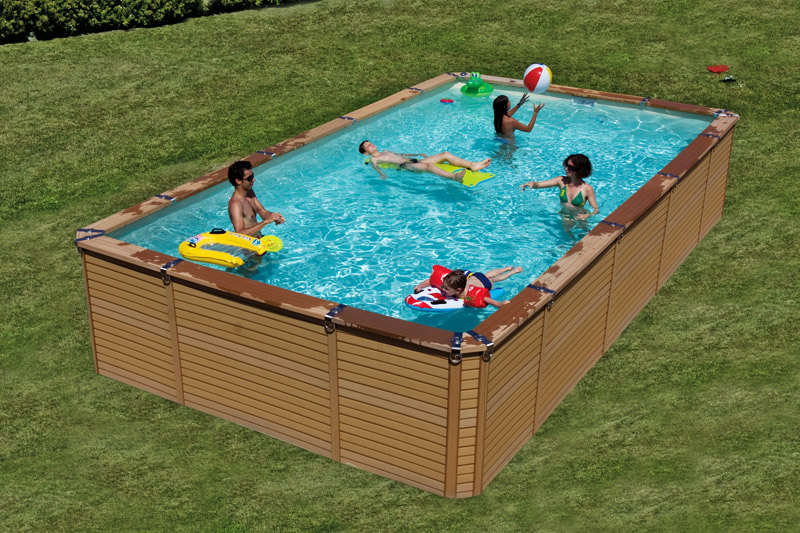 piscine zodiac azteck rectangulaire le must de la piscine bois composite. Black Bedroom Furniture Sets. Home Design Ideas