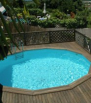 Piscine hors-sol bois, semi enterrable ou enterrable Maeva 500