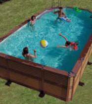 Piscine bois composite Azteck, magasin piscine Zodiac