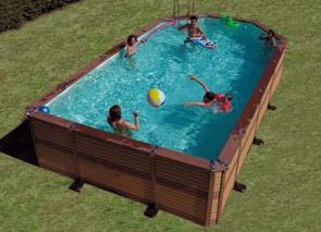 piscine zodiac le must de la piscine bois composite zodiac azteck mixte. Black Bedroom Furniture Sets. Home Design Ideas