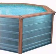 piscine zodiac azteck mini rectangulaire en bois composite. Black Bedroom Furniture Sets. Home Design Ideas