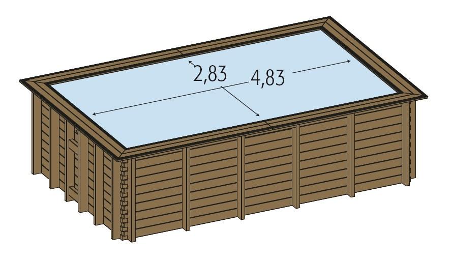 piscine bois hors sol maeva 5x3m piscine. Black Bedroom Furniture Sets. Home Design Ideas