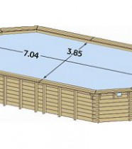 Dimensions piscine bois Maeva 700