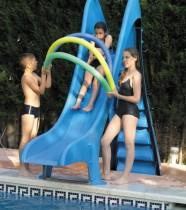 Toboggan piscine droit